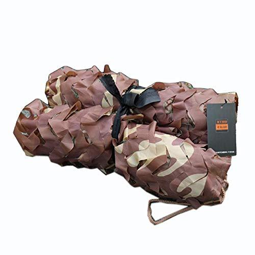 QIANGDA Camouflage Netz Sonnenschutznetz Waldtarnnetz Für Camping, Thema Partydekoration, Autoabdeckungen, Wüstentarnung, (größe : 6x8m)