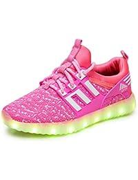 aaba86d377389 Chaussures LED pour Enfants Baskets Lumineuse Clignotants Rechargeable Garçons  Filles Velcro À Lacets Chaussures de Sport