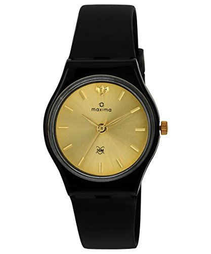 Maxima Analog Gold Dial Women's Watch - 02589PPLW image