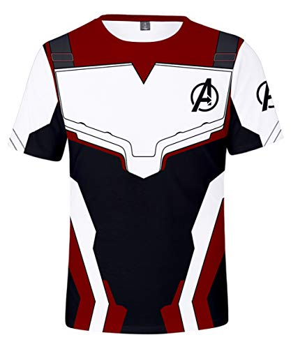 0b3066a95 HUASON Avengers Endgame Film Superhero Impresión 3D Camiseta Quantum T-Shirt (L)