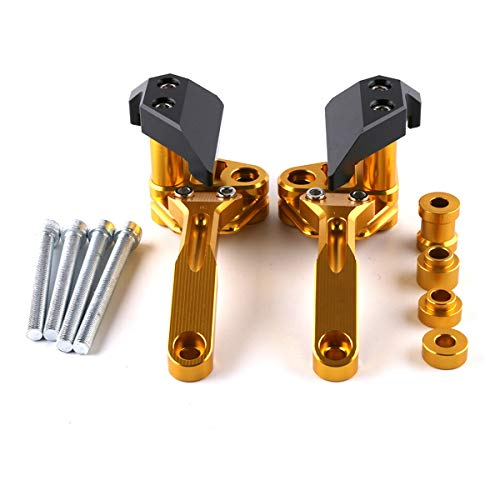 Kawasaki Kawasaki Z1000 Nuovo Motore in Lega di Alluminio Protezione anticaduta Blocco Motore Anti-Caduta Pezzi di Ricambio (Color : Gold)