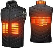 Suxman Chaleco calefactable USB, Chaleco calefactable para Hombres y MujeresTemperatura térmica Ajustable, Car