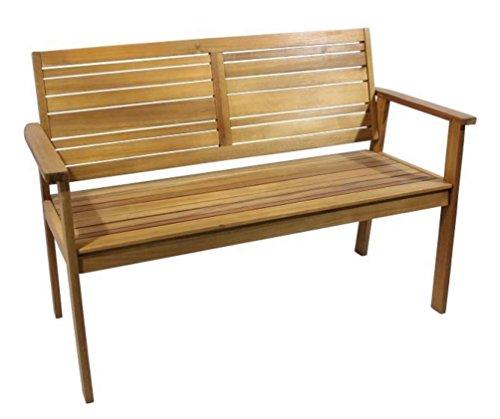 2 Sitzer Landhaus Gartenbank Leah, aus hochwertigem Akazienholz
