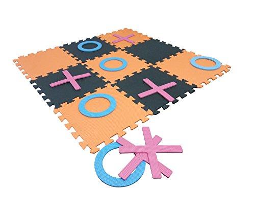 YYHIGH Giant Nullen und Kreuze Garten Spiel EVA Indoor und Outdoor Spielzeug für Kinder Familie (Ineinander Greifende Schaum)