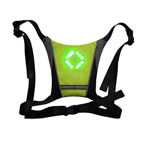 LED Turn Signal Light Reflective Vest Backpack Waist Pack Business Travel Laptop School Bag Night Cycling Running Walking Bright Side Bag