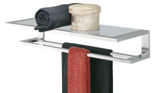 Tiger Items Handtuchreck mit Glas-Ablage, Edelstahl verchromt
