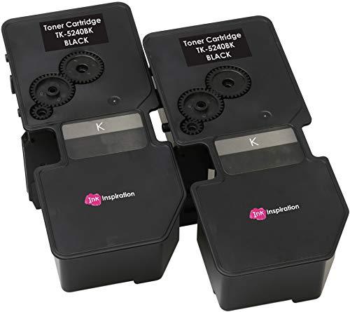 2 Schwarz Premium Toner kompatibel für Kyocera ECOSYS M5526cdn M5526cdw P5026cdn P5026cdw   TK-5240 TK-5240K 1T02R70NL0 4.000 Seiten - Mita Laser Drucker Patronen