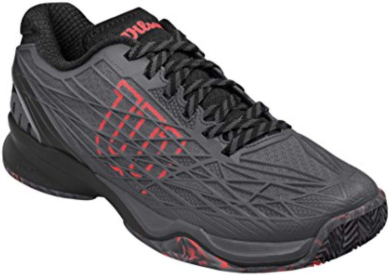 Wilson WRS322910E070, Zapatillas de Tenis para Hombre, Gris (Ebony/Black/Fiery Coral), 41 EU  -