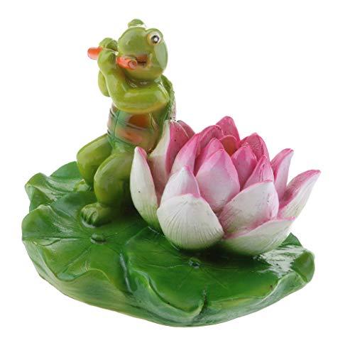 Homyl Schildkröte Schwimmfigur Teichdeko der Hingucker im Teich - 13# Grüne Schildkröte Flöte