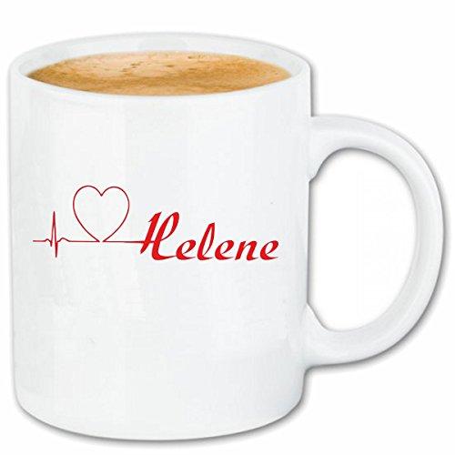 Reifen-Markt Kaffeetasse I Love Helene Keramik Höhe 9,5cm & 8cm Durchmesser 330 ml in Weiß für jeden Liebhaber/Fan genau das richtige