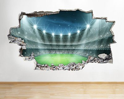 A135 Football Stadium Boys Bedroom Wall Decal Poster 3D Art Stickers Vinyl  Room(Large (