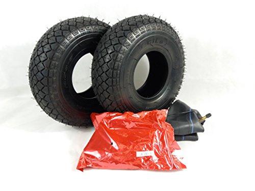 Paar (4.00-5) 330x100 schwarz Mobilität Scooter Elektromobil Rollstuhl, Reifen und Röhren. (Mobilität Reifen)