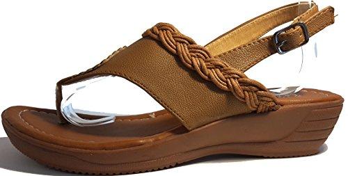 Sexy sandali, infradito donna, flip flop, beige, marrone, bianco, blu, rosso, nero-oro, rosa-rosso e leopardo, modello 11064105006001, modelli e numeri differenti. Marrone con cordone.