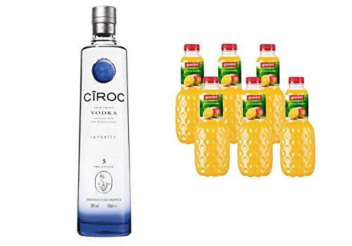 Ciroc Ultra Premium Vodka (1 x 0.7 l) mit Granini Trinkgenuss Orange-Mango (6 x 1 l)