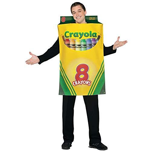Erwachsene Für Crayola Kostüm - Crayola Box Kostüm für Erwachsene