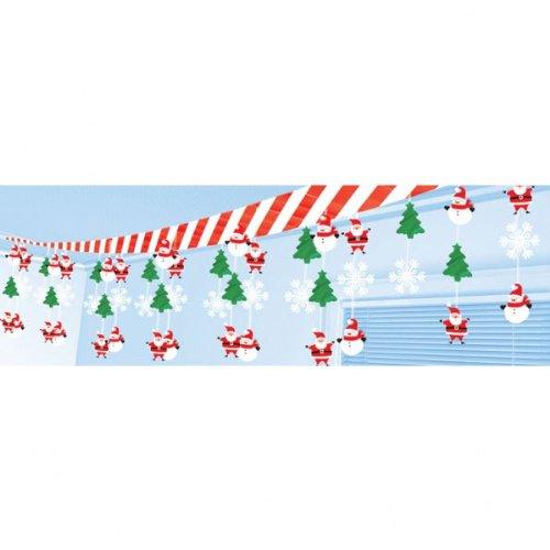 Amscan international decorazioni natalizie da appendere, motivi: pupazzo di neve e babbo natale