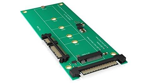 Icy Box IB-M2B01 Konverter-Platine 1x M.2 SATA SSD zu SATA III oder 1x M.2 PCIe