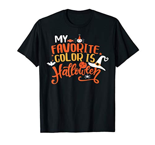 Meine Lieblingsfarbe ist Halloween-süßer Kürbis-Geist T-Shirt (Es Viele Halloween-filme Wie Gibt)