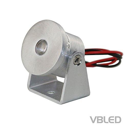 VBLED® 1W Mini Aufbaustrahler - Rotier- & Schwenkbar - 80lm warmweiß (3000 K) - 350mA, Aluminium, IP20 Schutzklasse, Dimmbar (Einzeln)