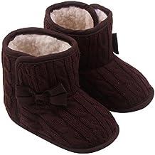 Scarpe Bambina Bambino, feiXIANG Bambino Bowknot Morbido Suola invernale scarpe calde stivali,filato di lana