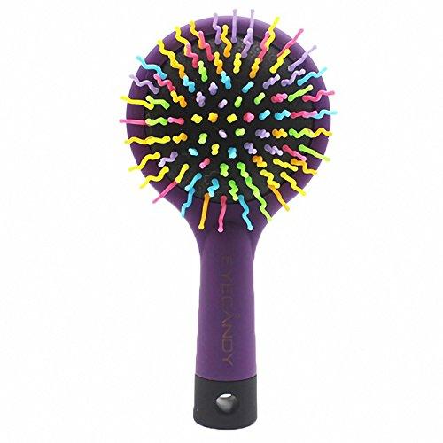 KINGDUO Haar Pinsel Regenbogen Pinsel Magie Haarkamm Pinsel mit Spiegel Pet Haarbürste