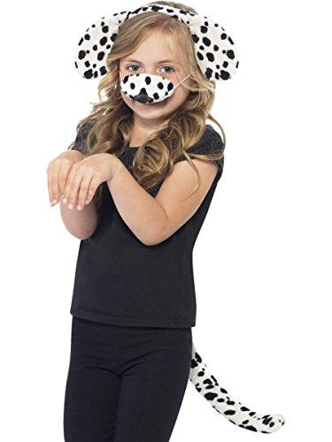 Haloween Für Kostüm Hunde - Smiffys Kostüm Zubehör Dalmatiner Hund Ohren Schwanz Nase Karneval Fasching