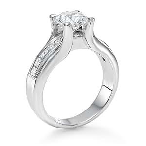Diamant Ring 1.60 Ct W G/VS2 Round 18 Karat (750) Weißgold (Ringgröße 48-63)