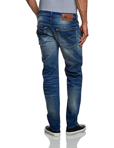 G-STAR Herren 3301 Low Tapered Jeans Blau (Firro Denim In Medium Aged)