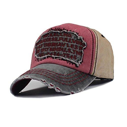 Baseball Caps CJC Sonne Hüte Retro Stil Männer Frauen unisex Freizeit atmungsaktiv im Freien (Farbe : B)
