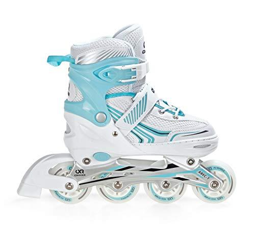 Croxer Inline Skates Inliner Optima White/Mint verstellbar (39-42(24cm-26,5cm))
