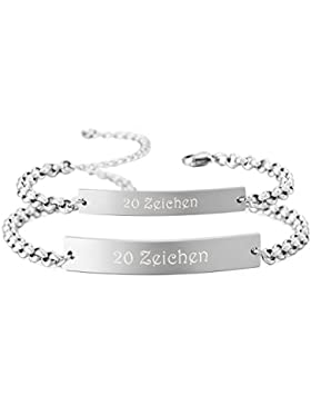 MeMeDIY 2PCS Silber Golden Zwei Ton Edelstahl Armband Link Paar Paare Einstellbar Verstellbaren - Kundenspezifische...