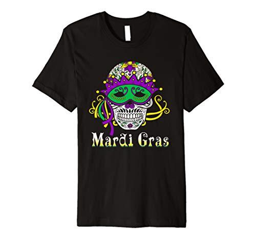 New Orleans Mardi Gras Masken - Mardi Gras Shirt Maske Sugar Skull