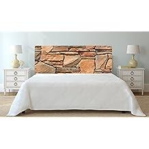 Cabecero Cama PVC Fondo de Textura de Pared de Piedra | 115x60cm | Cabecero Ligero,