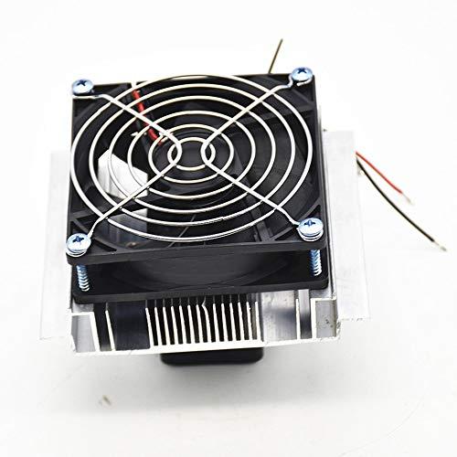 bvnmghjbmghj 12V Thermoelektrisches Peltier-Kühlsystem Kühlerlüftersystem Kühlkörper-Kit Kühlsystem Kühler - Kühler - Silber