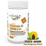 Vitamine D 4000 I.U 100 capsules végétariennes Vita World Production Pharmacie Allemagne