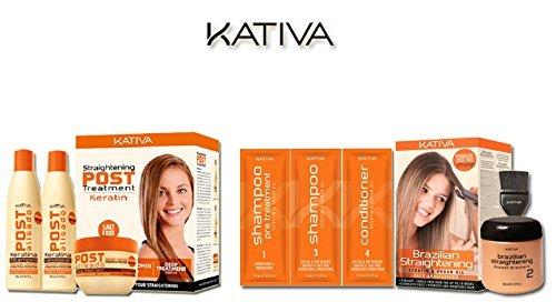 Foto de Kativa - Queratina para el cabello y aceite de Argán, Alisado Brasileño + Pack Post Tratamiento Alisado