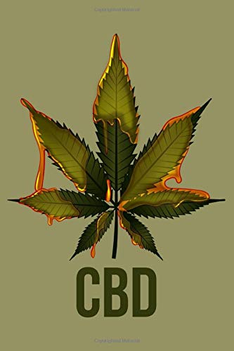 Journal: CBD Cannabis Oil Medical Pot Marijuana Weed Leaf Black Lined Notebook Writing Diary - 120 Pages 6 x 9 -