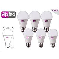 VIP LED SET di 6 LAMPADINE LED GOCCIA A60, 10W 900 Lumen, Attacco E27, LUCE FREDDA 6000K°