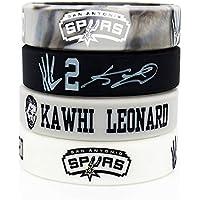 Lorh's store Basketball Kawhi Leonard Porträt Armband Nummer 2 Silikon Inspirierende Wort Sport Schweißbänder 4 Pcs