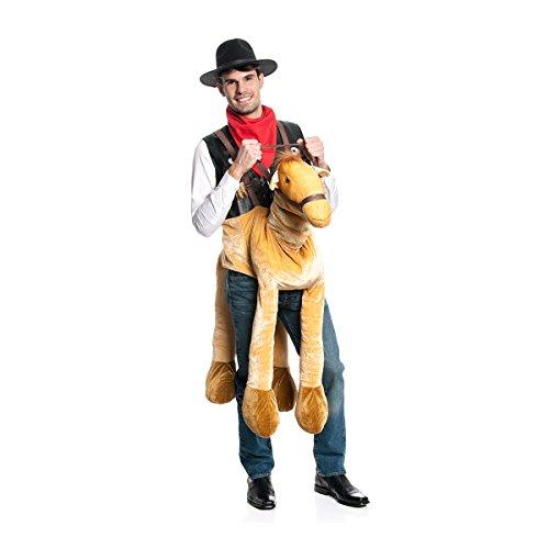 Kostümplanet® Reitpferd Karneval Spaß Kostüm Herren + Damen Wilder Westen Indianer (Indianer Kostüme Und Cowboy)