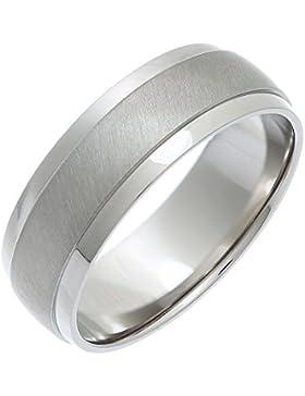 Theia Unisex-Ring Titan Court Form Matt Center metallisch 7mm