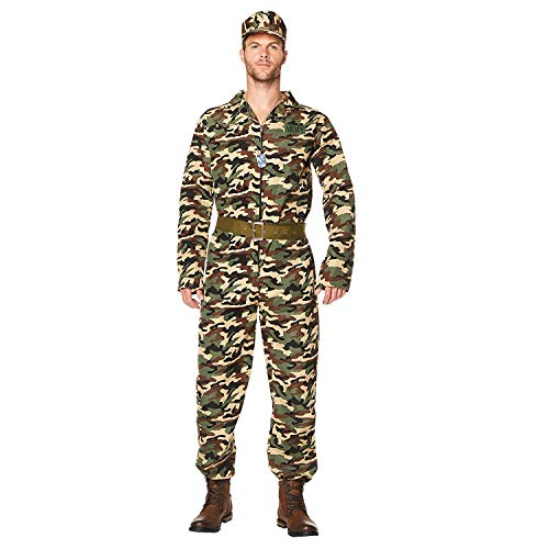 Karnival 82094Stecker Armee Camo Anzug Kostüm, Herren, Multi, extra ()