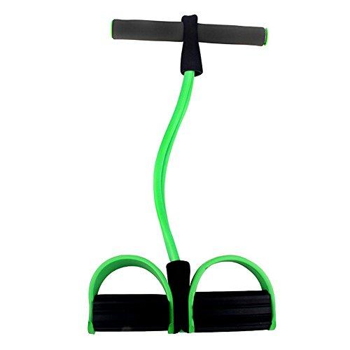 Demarkt Pedal Sport Expander Expander Elastic Pull Seil Fitness Widerstand Bänder Fußpedal Exerciser Bodybuilding Expander Latex Schlauch Elastische Zugseil Widerstand Bands Trainingsgeräte Grün