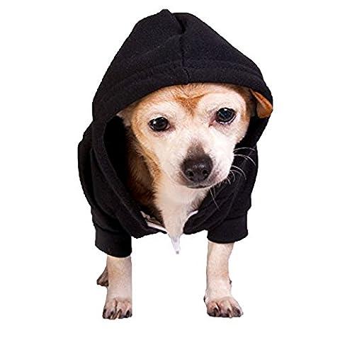 Flex Sweat à capuche zippé en polaire pour chien (f997) American Apparel Fermeture Éclair en nylon blanc 50% coton peigné, 50%