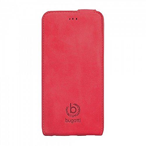 Bugatti 8743 Etui en cuir pour Apple iPhone 6 Motif Lausanne Noir rot - Madrid (Flip)