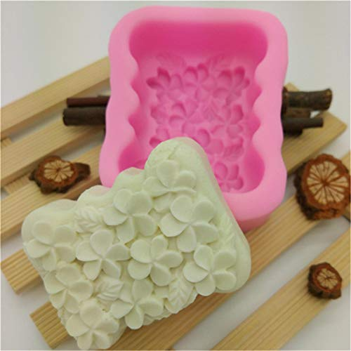 Yingwei Blumen Silikonform Fondant Form 3D Gardenia Blumen Backform Marzipan Tortendeko Seife Dekoration Werkzeug -