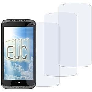 3 x Displayschutzfolie klar/wie unsichtbar für HTC Desire 526G Dual Sim