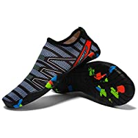 Unisex Sneakers Swimming Shoes Water Sports Aqua Seaside Beach Surfing Slippers Upstream Light Athletic Footwear For Men Women (7.5 UK)