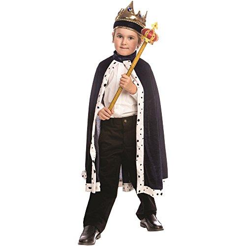 faschingskostuem koenig Dress Up America Kinder Navy König Robe und Krone Kostüm One size