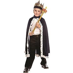 Dress up America - Traje de Rey para niños, Color Azul, Talla única (849-N)
